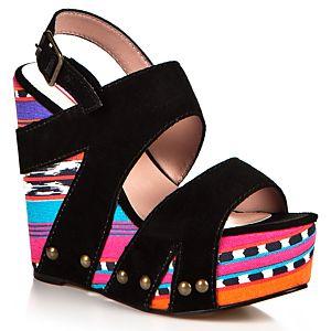 Betsey Johnson Etnik Desenli Platform Sandalet