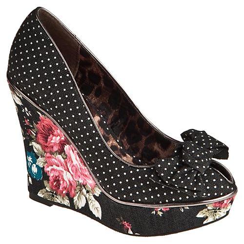Betsey Johnson Misssie Çiçek Baskılı Dolgu Topuklu Ayakkabı