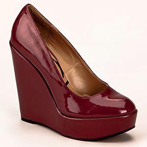 Canzone Dolgu Topuklu Rugan Ayakkabı