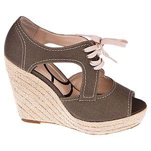 Canzone Hasır Dolgu Topuklu Bağcıklı Ayakkabı