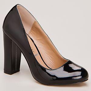 Canzone Kalın Topuklu Rugan Ayakkabı