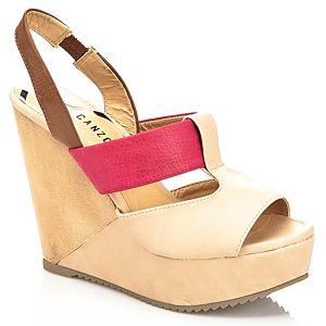 Canzone Renkli Dolgu Topuk Ayakkabı