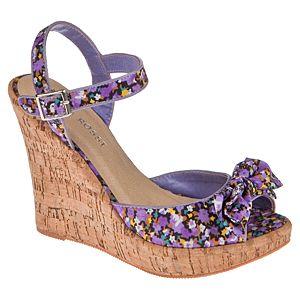 Casa Rossi Çiçekli Dolgu Topuklu Ayakkabı