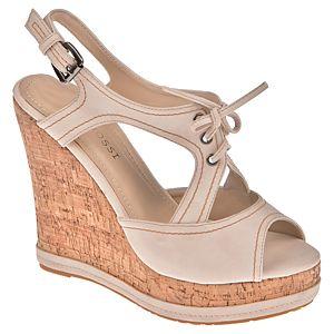 Casa Rossi Dolgu Topuklu Bağcıklı Sandalet