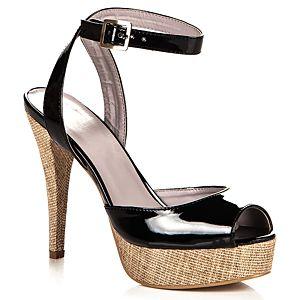 Casa Rossi Signature Hasır Tabanlı Platform Sandalet