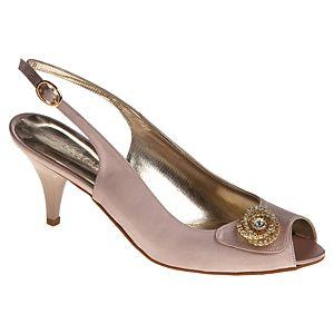 Magza Taşlı Toka Detaylı Topuklu Ayakkabı