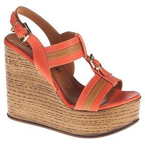 Paolo Ferri Kalın Paralel Bantlı Sandalet
