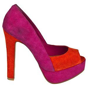 Steve Madden Jennny Blok Renkli Platform Topuklu Ayakkabı