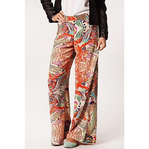 Nisa Kalo Collection Retro Desenli Pantolon