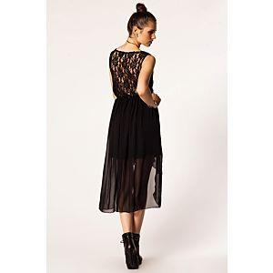 Rare London Sırtı Dantelli Elbise