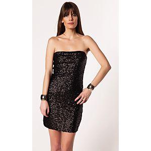 Vero Moda Woop Payetli Straplez Elbise