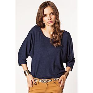 Batik Arkası Fermuarlı Bluz