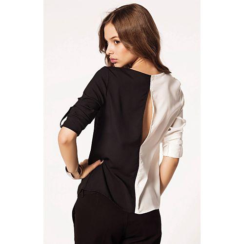 Batik Black & White Bluz