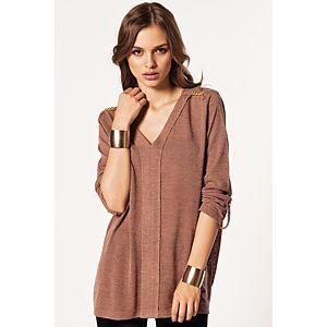 Batik Omzu Troklu Bluz