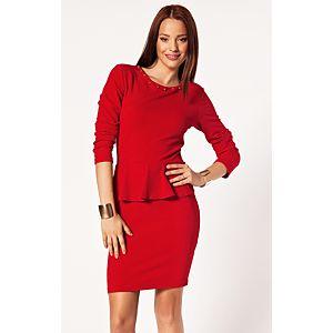 Batik Scarlet Fever Katlı Elbise