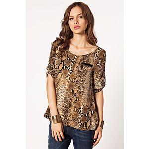 Batik Snake Apoletli Bluz