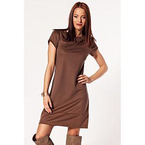 Batik Yakası Troklu Basic Elbise