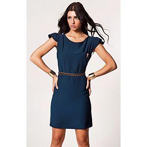 Clue Sırtı Kare Açık Elbise