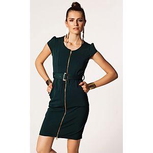 One Day Önden Fermuarlı Elbise