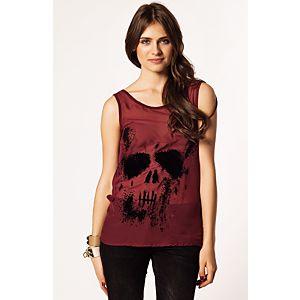 Only Skull Flok Baskılı Kurukafa Bluz