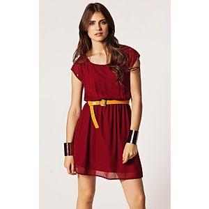 Only Zımbalı Şifon Elbise