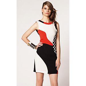 Rinascimento Geometrik Desenli Elbise