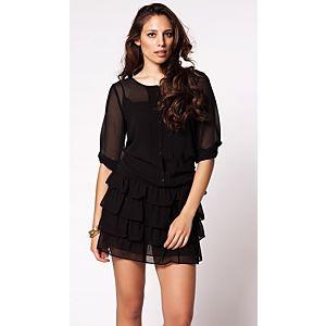 Sisley Kat Kat Düğmeli Elbise
