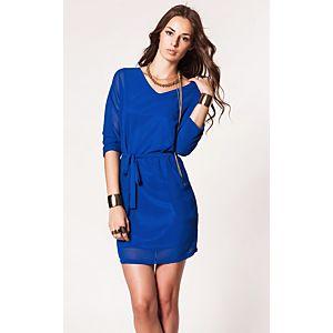 Vero Moda Bounty Truvakar Kollu Kemerli Şifon Elbise