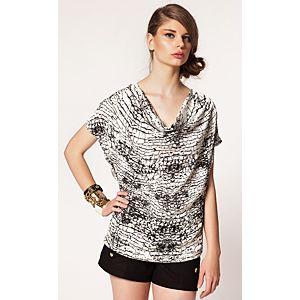 Vero Moda Carey Degaje Yaka Baskılı Bluz