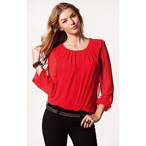 Vero Moda Cherry Uzun Kollu Bluz
