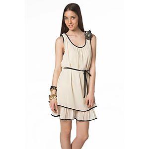 Vero Moda Momsa Omzu Çiçekli Elbise