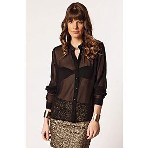 Vero Moda Rania Deri Yakalı Bluz