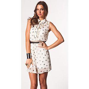 Vero Moda Vanita Kolsuz Baskılı Mini Elbise