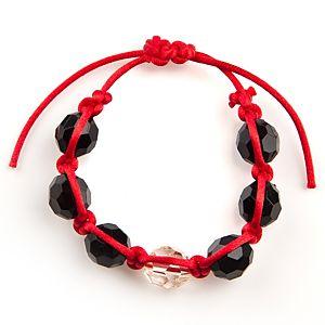 Ecm Accessories Kırmızı İpli Siyah Boncuklu Bileklik