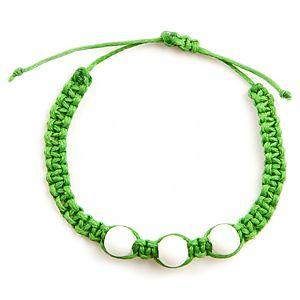 Ecm Accessories Yosun Yeşili Üç Boncuklu Bileklik