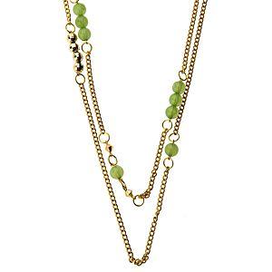 Ecm Accessories Yeşil Boncuklu Zincir Kolye