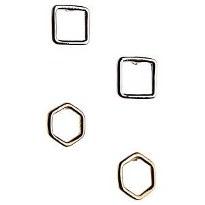 Pieces Oppa Geometrik Şekilli Küpe