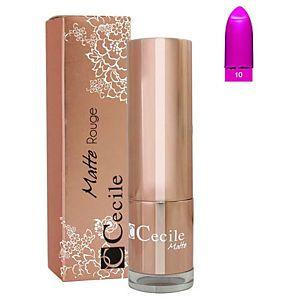 Cecile Matte Rouge Lipstick 10 Ruj