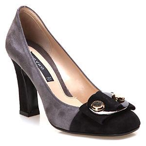 Albano Gri - Siyah Topuklu Ayakkabı