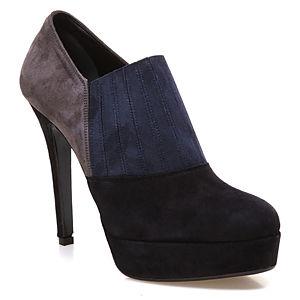 Albano Siyah - Gri - Lacivert Platform Ayakkabı