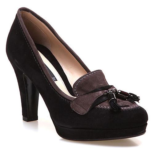 Albano Siyah/Gri Topuklu Ayakkabı