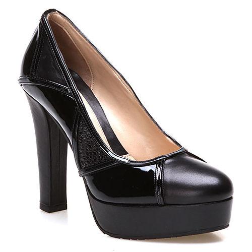 Albano Siyah Platform Ayakkabı