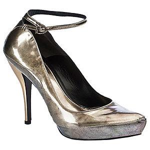 Alexander McQueen Bilekten Bağlamalı Lame Ayakkabı