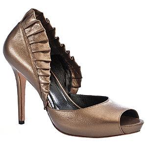 Alexander McQueen Fırfırlı Bakır Rengi Ayakkabı