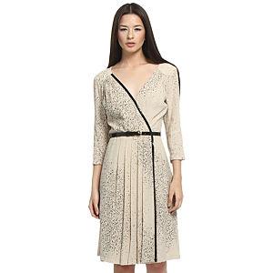 Balizza Desenli Bej Elbise