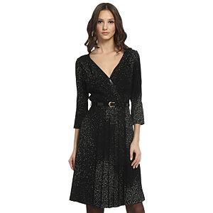 Balizza Desenli Siyah Elbise