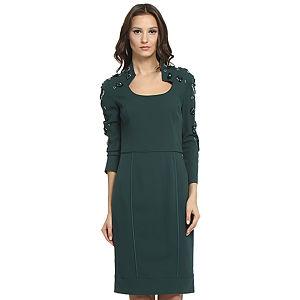 Balizza Kolları Taşlı Yeşil Elbise