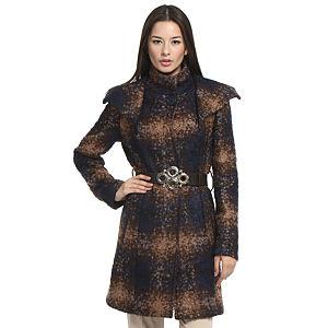 Balizza Lacivert/Kahverengi Palto