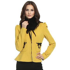 Balizza Siyah Fiyonklu Sarı Ceket
