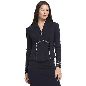 Balizza Taşlı Lacivert Ceket
